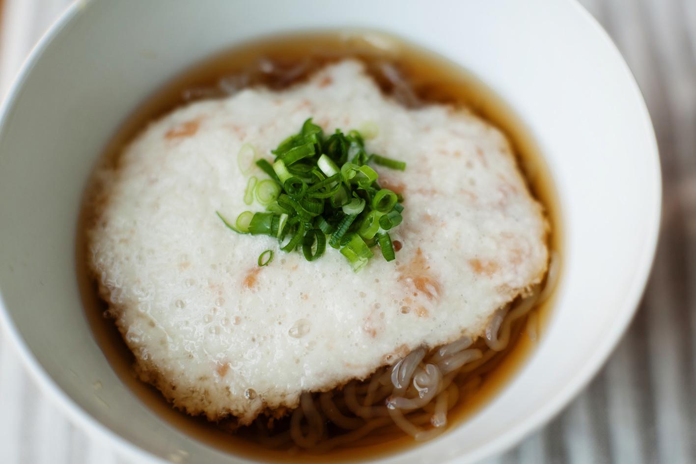 長芋と梅のさっぱり和え麺