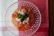 トマトの冷製ピリ辛麺